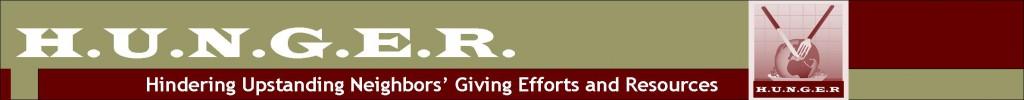 Hunger logo banner