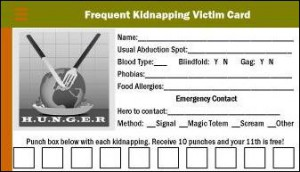 Frequent Kidnapping Card